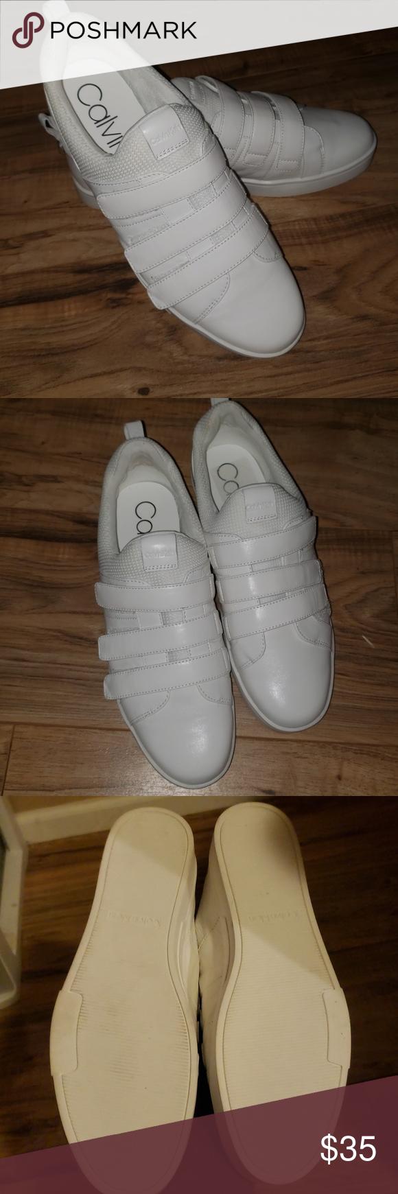 Calvin klein irah white velcro sneakers