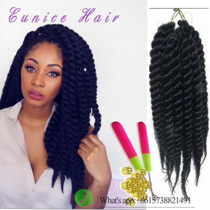 Havana Mambo Twist European Hair For Braiding 12 18 24inch Crochet Braid 2x Ombre Synthetic Braids Freetress