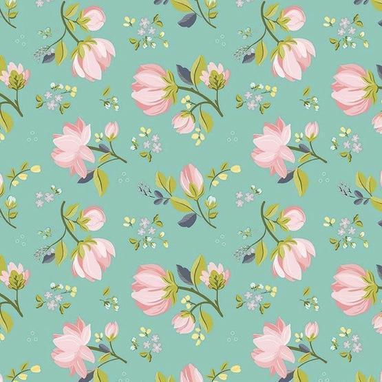 Serenade Main Mint Fabric by Cyndi Walker - Riley Blake Fabrics