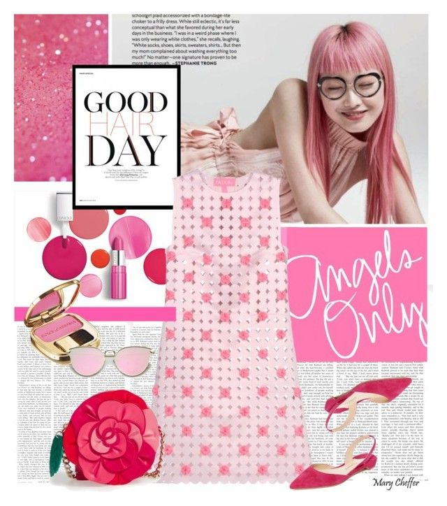 Angels Only by mcheffer on Polyvore featuring beauty, Dolce&Gabbana, Kate Spade, Paskal, Paul Andrew, Clinique, hairtrend and rainbowhair