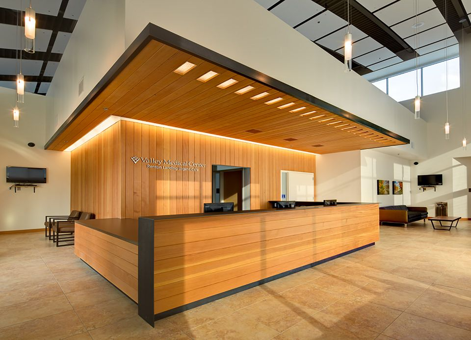 Interior architectural photograph of the Valley Medical