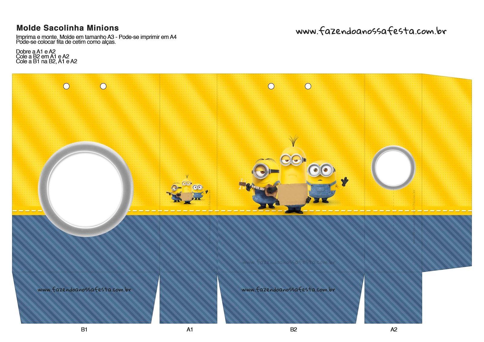 Cajas De Minions Para Imprimir Gratis Minions Festa Infantil