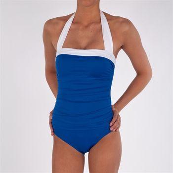de7ecdc2b2b Lauren Ralph Lauren Slimming Halter Swimsuit #VonMaur #Swimwear #Blue