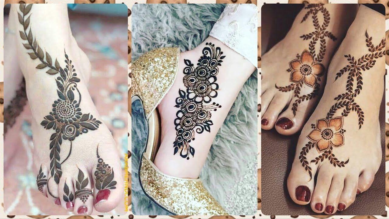 simple foot mehndi design 2021