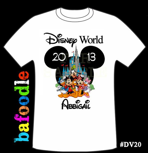 Disney Family Vacation Mickey Gang Personalized Age Tshirt Birthday Shirt Favor