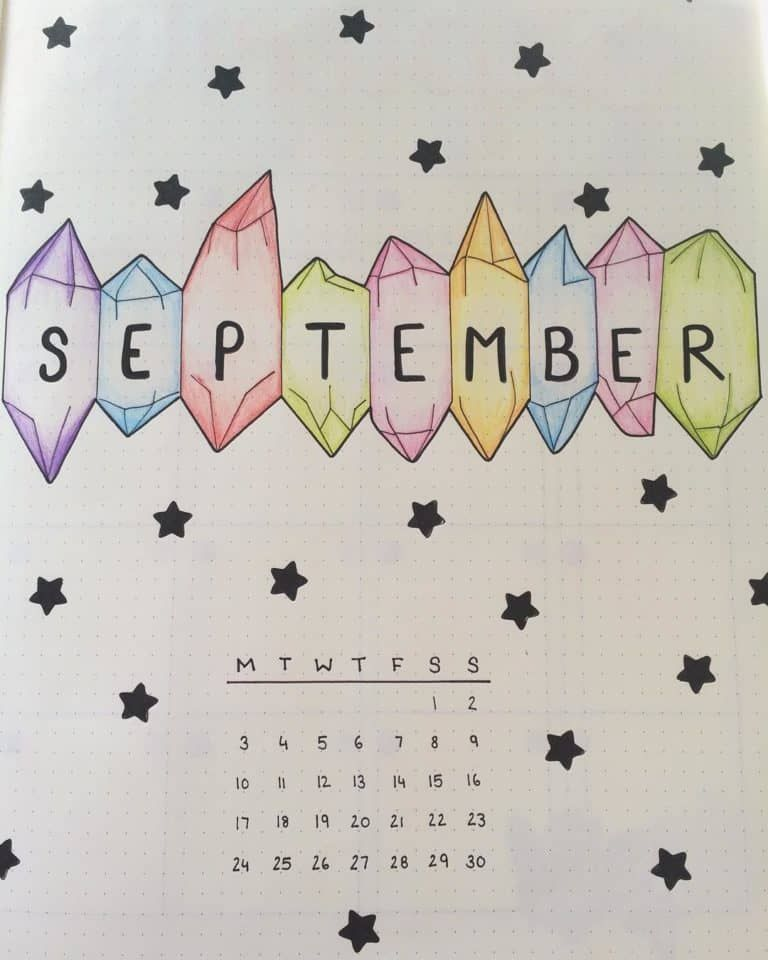 10 Bullet Journal September Cover Pages For Inspiration #septemberbulletjournalcover