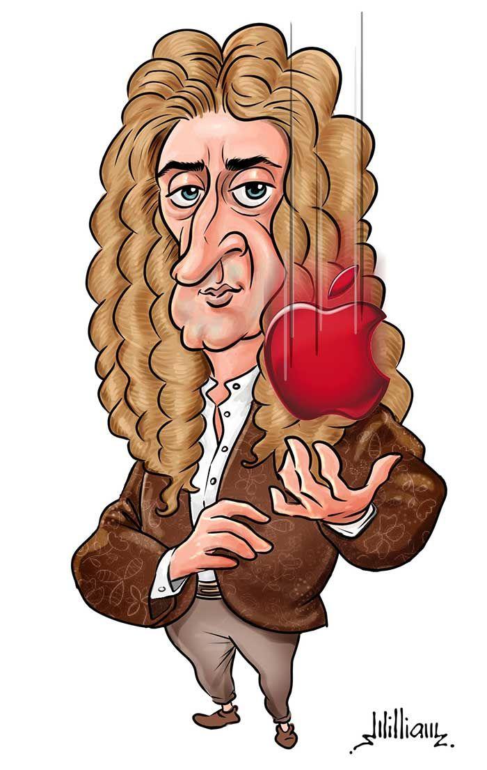 Isaac Newton Caricatures In 2019 Astronomia Caricatura Físico
