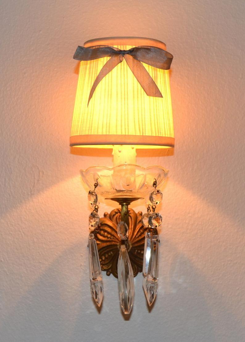 Vintage Mini Lamp Shades Blue Ribbon Lamp Shades Shabby Chic Lamp Shades Chandelier Lamp Shades Sconce Lamp Shades Pleated Small Lamp Shades In 2020 Ribbon Lamp Shades Small Lamp Shades Lamp