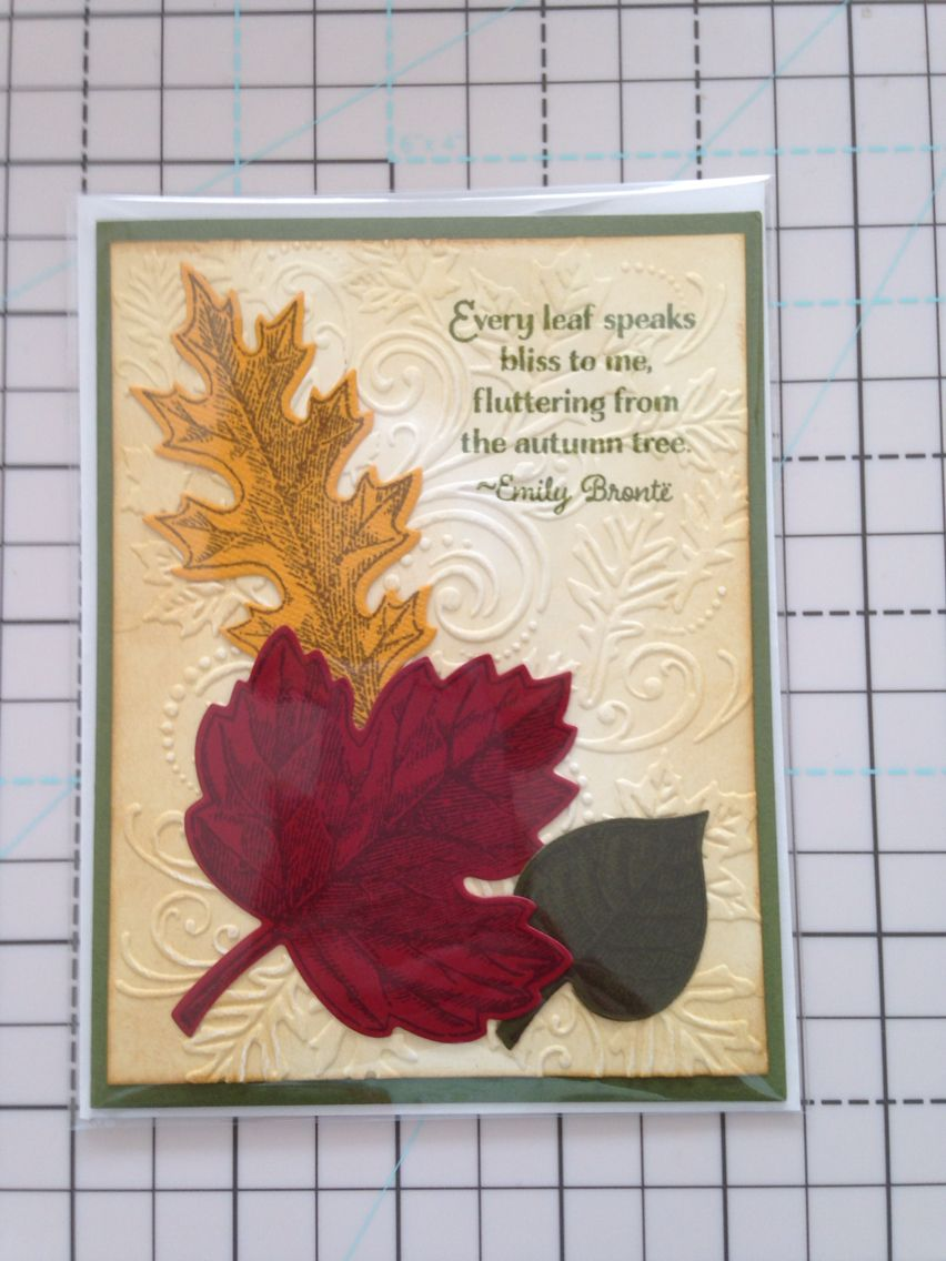 Love these StampinUp leaves and dies