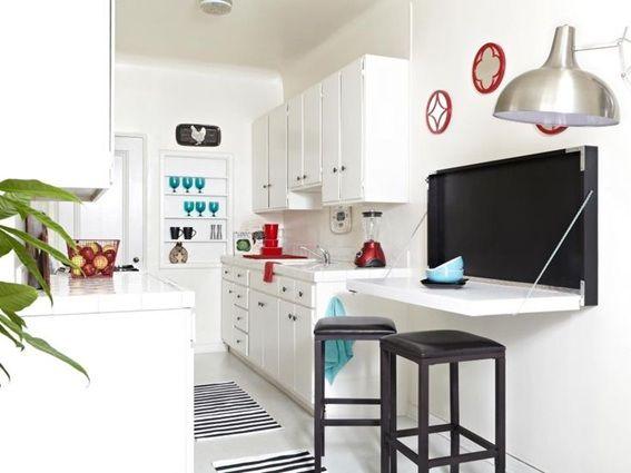00c42c3d3980 12 Diseños de Cocinas con Mesas Plegables para Ahorrar Espacio ...