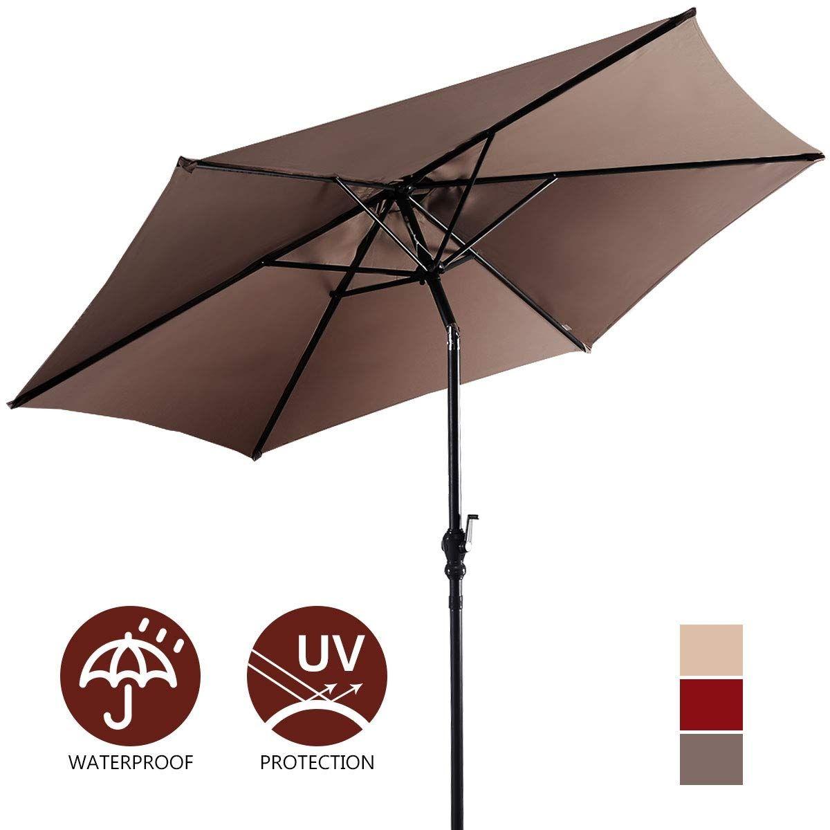 9 patio umbrella 8 rib yard garden sun