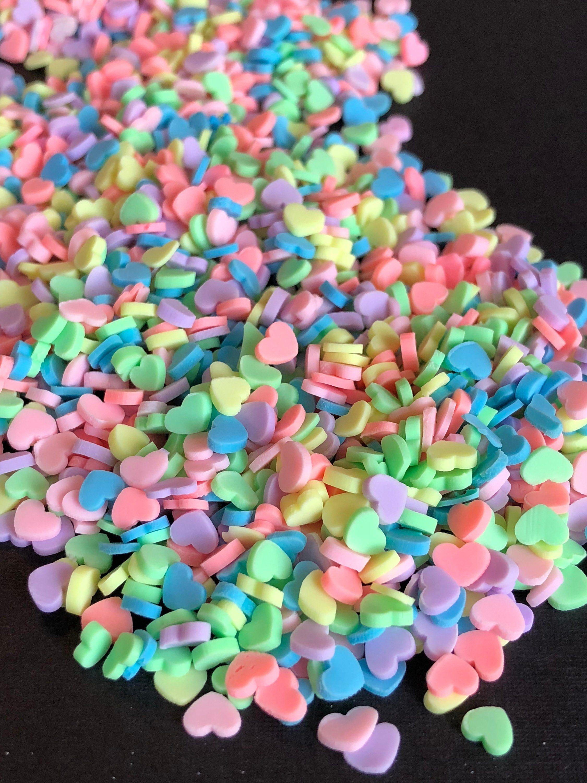 Slime charm, fake sprinkles,slime charms, slime, heart