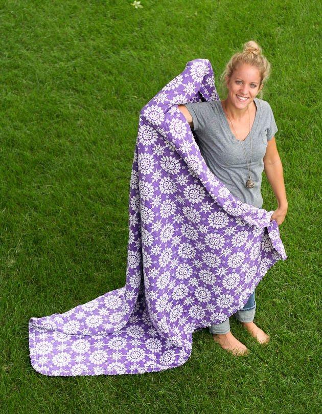 best garage sale find ever.  $2.  a handmade blanket.