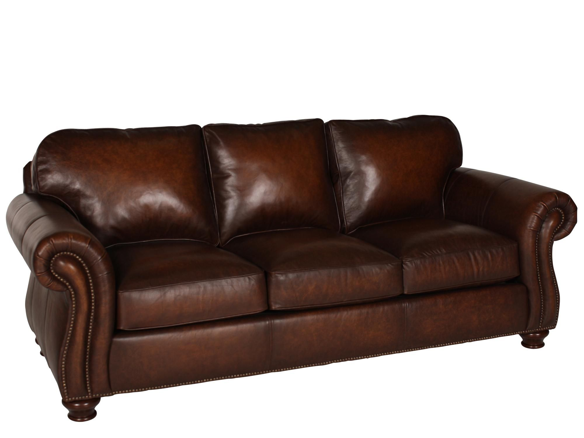 $1390 Vincent Leather Sleeper Mathis Brothers