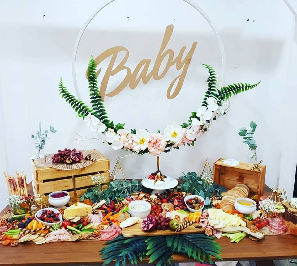 Baby shower grazing table | Katies Baby Shower in 2019 ...