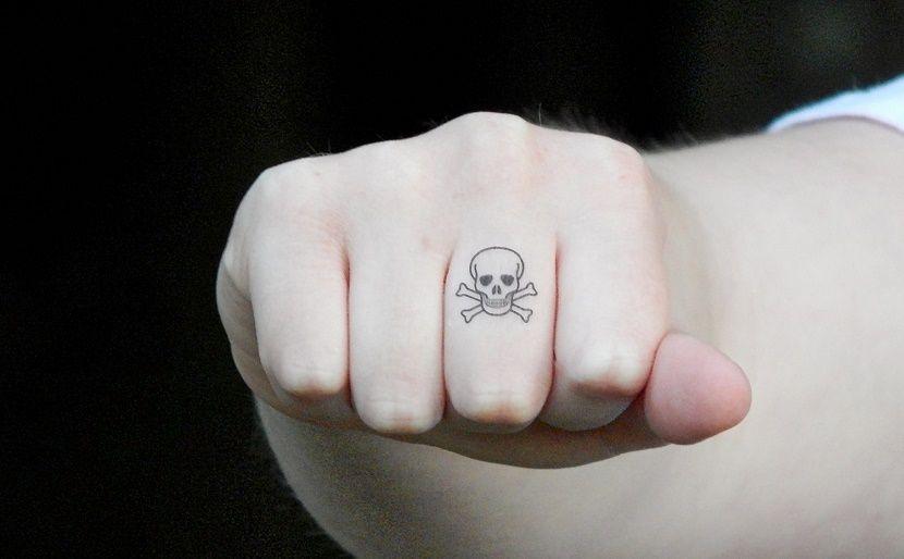 Tatuajes De Calaveras Pequenas Tatuaje De Calavera Pequeno Tatuajes De Dedos De Calavera Calaveras Tatuajes
