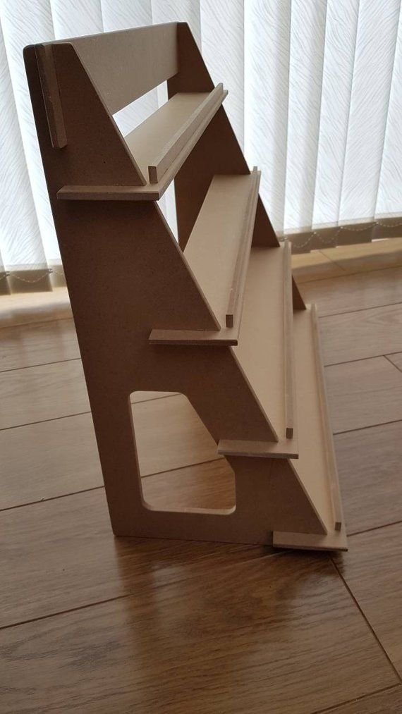 Display Stand – 4 shelf version – flat pack – ideal for craft fairs! Various lengths & can be customised