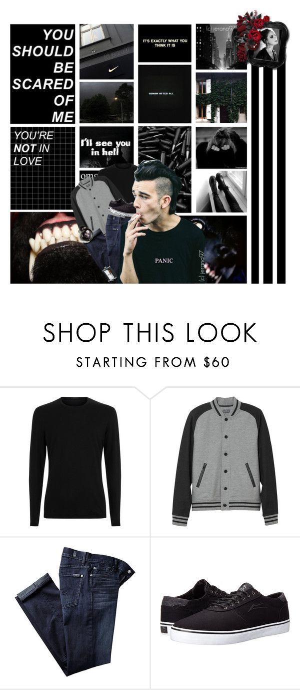 """#01: BLVCK"" by jerana97 ❤ liked on Polyvore featuring GET LOST, L.L.Bean, 7 For All Mankind, Lakai, Effy Jewelry, men's fashion and menswear"