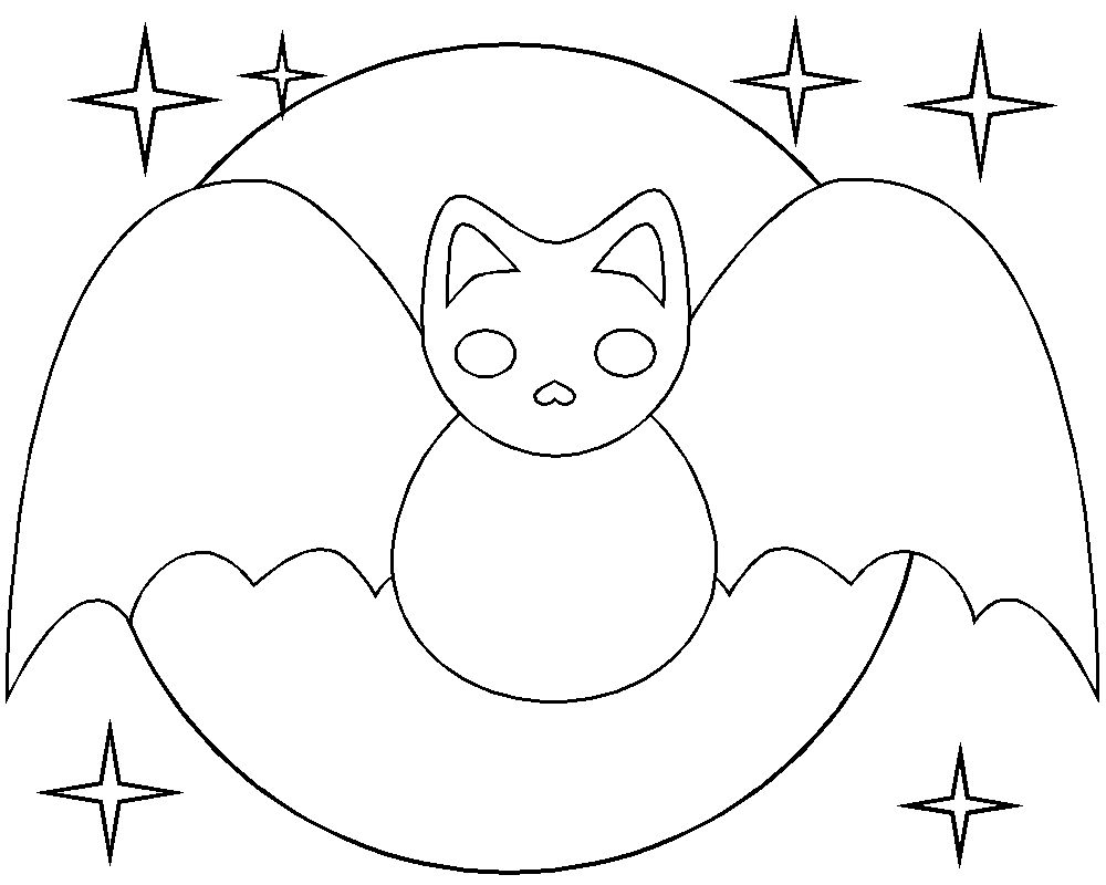 Printable Bat Coloring Page Animals Town Animals Color ...