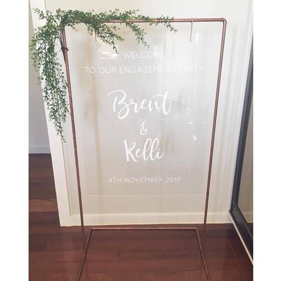 Custom Acrylic Welcome Sign With White Vinyl Decals