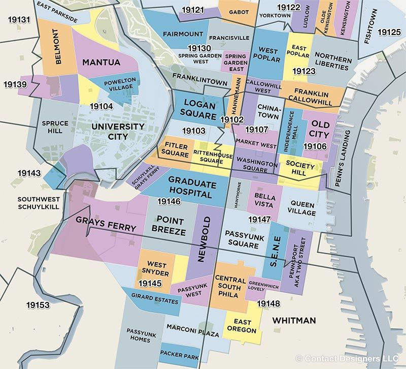 Philly Zip Code Map This Awesome Philadelphia Neighborhood Guide Gives You The Low