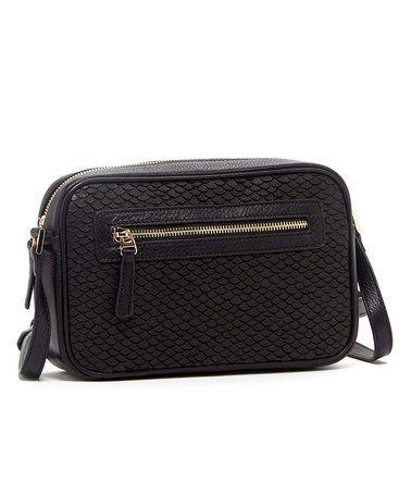 Look what I found on #zulily! Black Cortlandt Leather Crossbody Bag by Susu #zulilyfinds