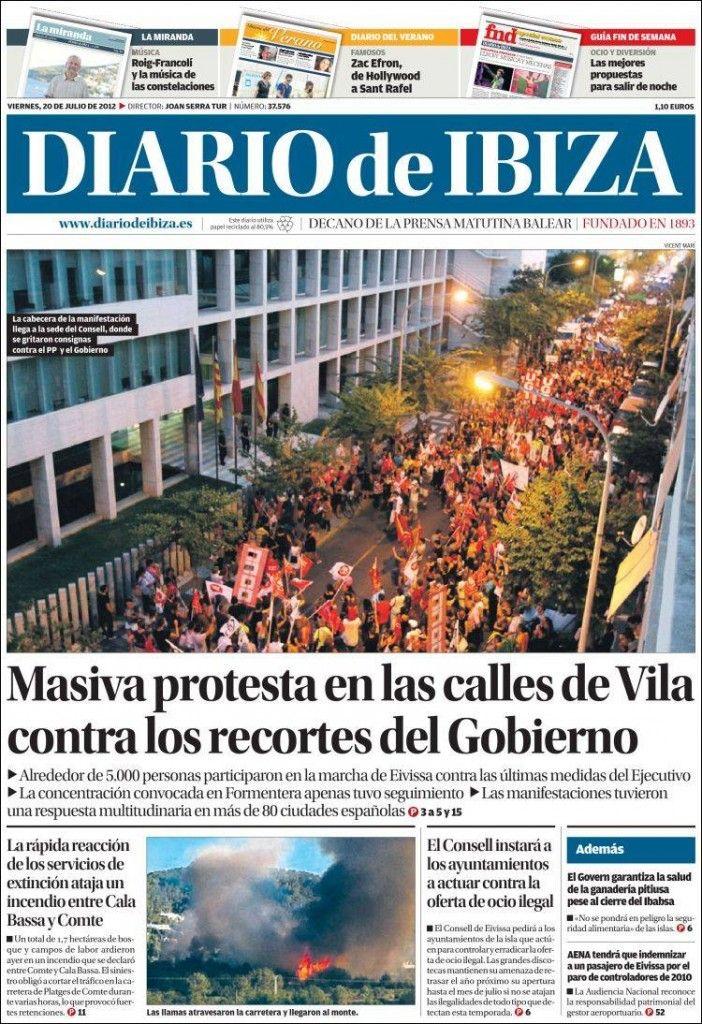Portadas del 20 de julio 2012 – Manifestaciones en España por los recortes | discutivo.com