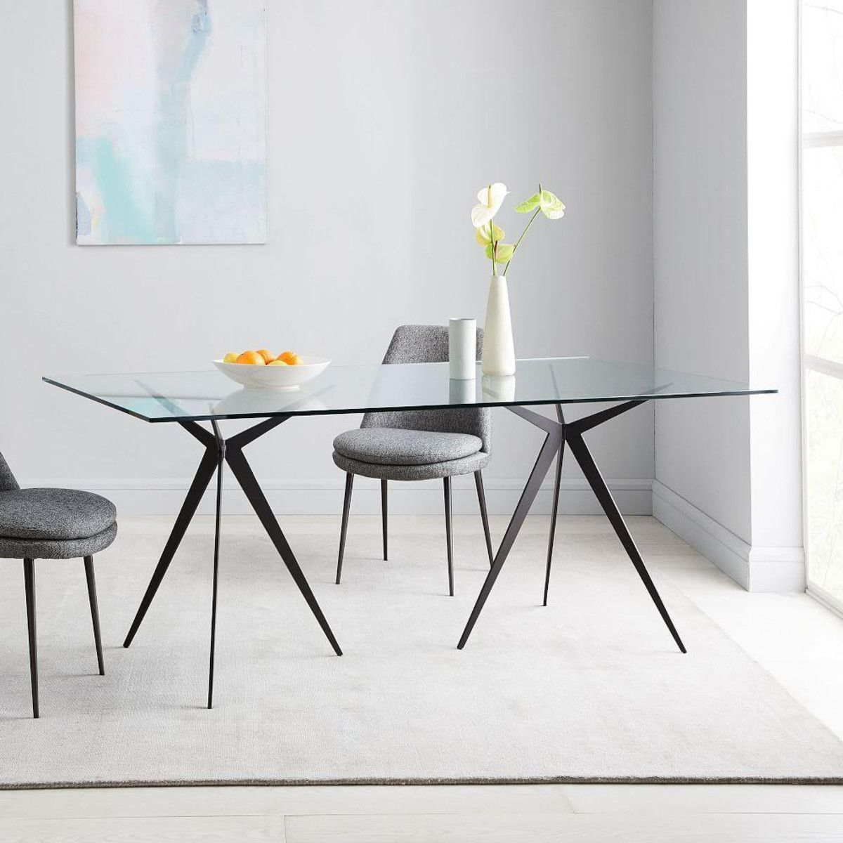 Astra Dining Table West Elm Uk Dining Table Glass Dining