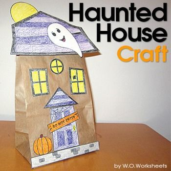 design your own haunted house. Halloween Craft Haunted House  Indoor recess houses and Early childhood education
