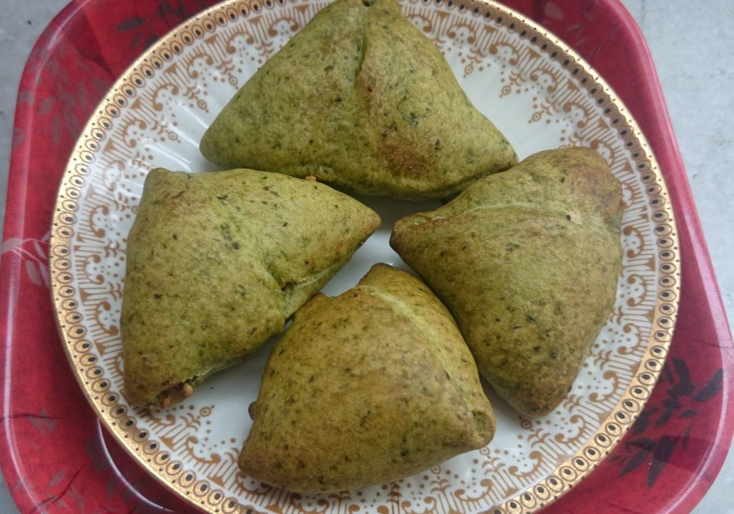 Cocktail Spinach Samosa With Philips Airfryer By Healthy