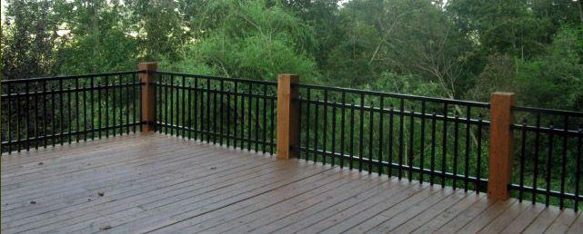 Aluminum Deck Railing Systems Wood Visit More Deck Railing Ideas  Http://awoodrailing.