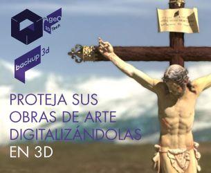 Copias de seguridad en 3D. Cristo de La Lanzada de Granada. #backup3D http://vimeo.com/87163780