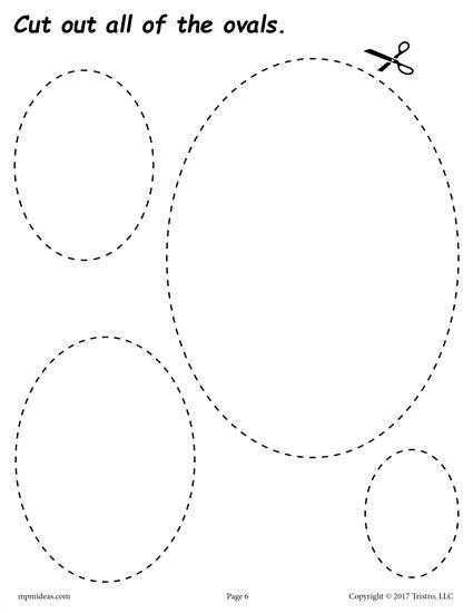12 Free Printable Shapes Cutting Worksheets Printable Shapes