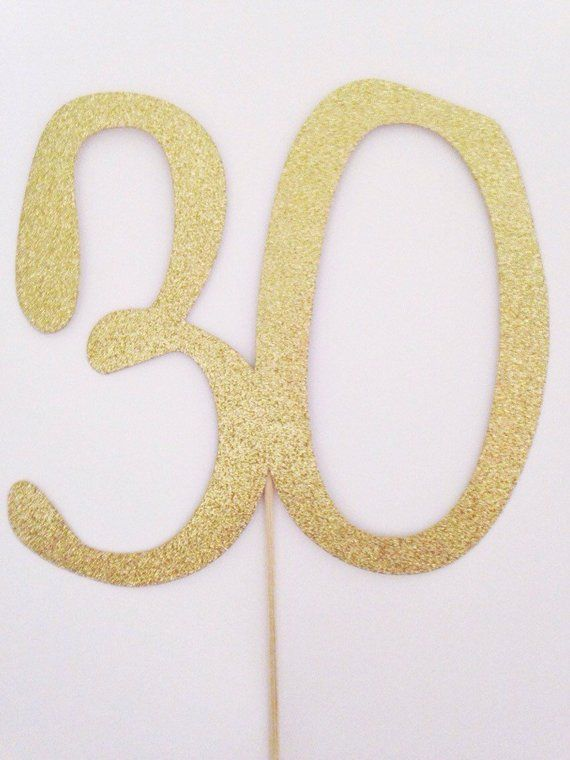 40th Milestone Birthday Party Number Colour Gold Size 20cm.