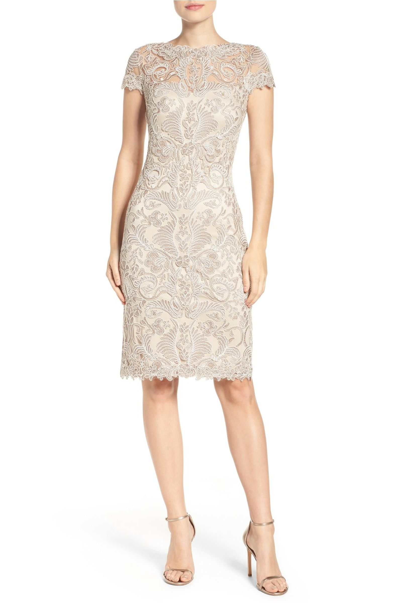 Tadashi Shoji Illusion Yoke Lace Sheath Dress #nordstrom | 2017 ...