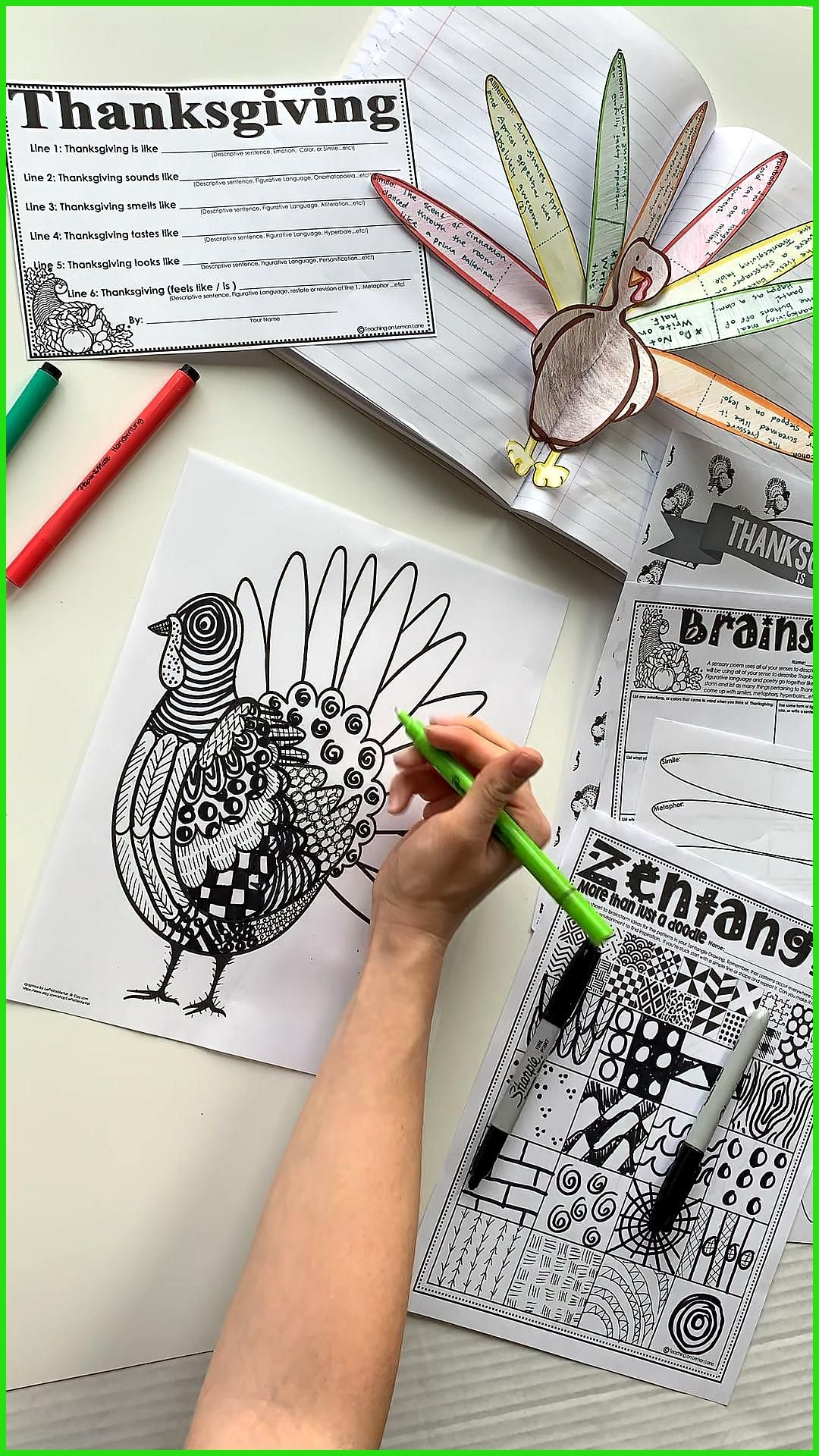 My Favorite Thanksgiving Activities for The Classroom During November Thanksgiving Art & Poetry-