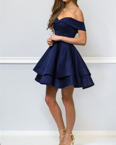 Lovely Red ,Blue 8th Grade Prom Dress Short Graduation ,Homecoming Gown ML406