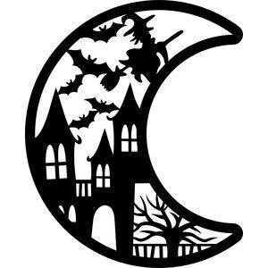 Silhouette Design Store Product Id 302920 Fall Leaves Pumpkin Cricut Halloween Halloween Silhouettes Halloween Moon