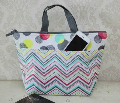 Thirty One Travel Organizer Thermal Picnic Lunch Tote Bag 31 Gift Punch Bowl Qw Ebay