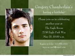 18th Birthday Invitations For Boys
