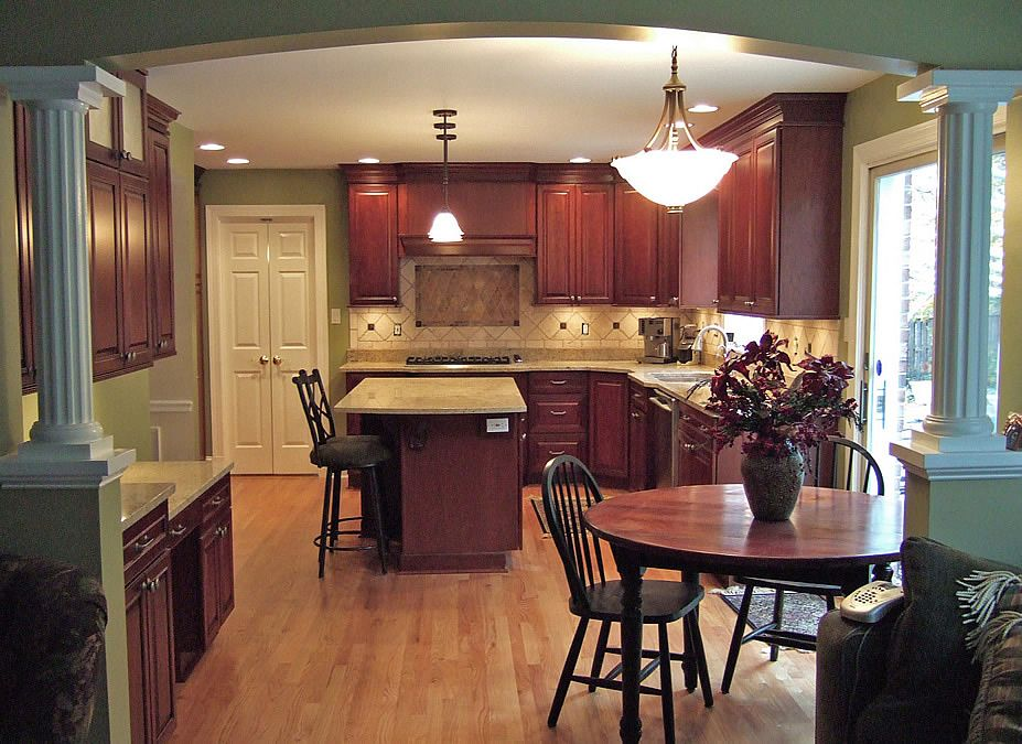 half-columns kitchen remodels | kitchen remodel with wall removal ...