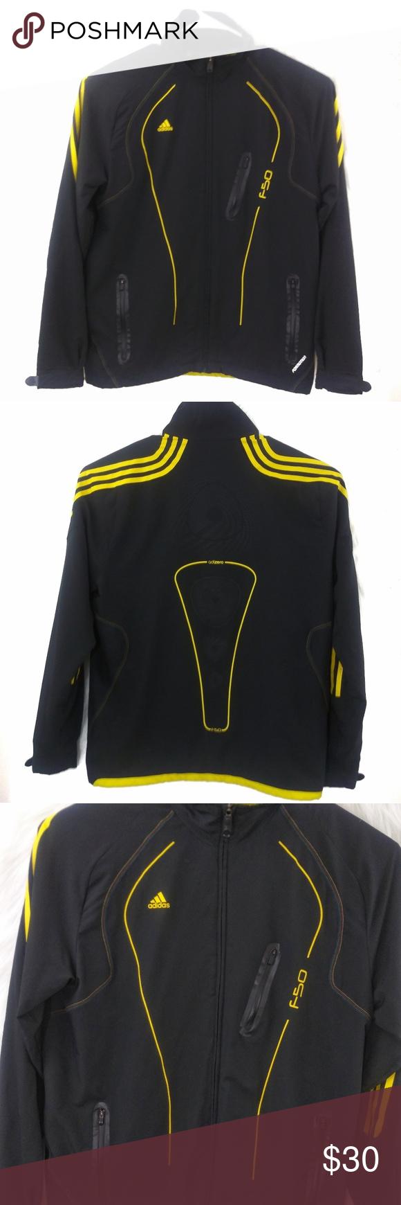 a1b0754400f5d Adidas Adizero Windbreaker Black Yellow Jacket Adidas Adizero Windbreaker  Black Yellow Jacket is in great pre