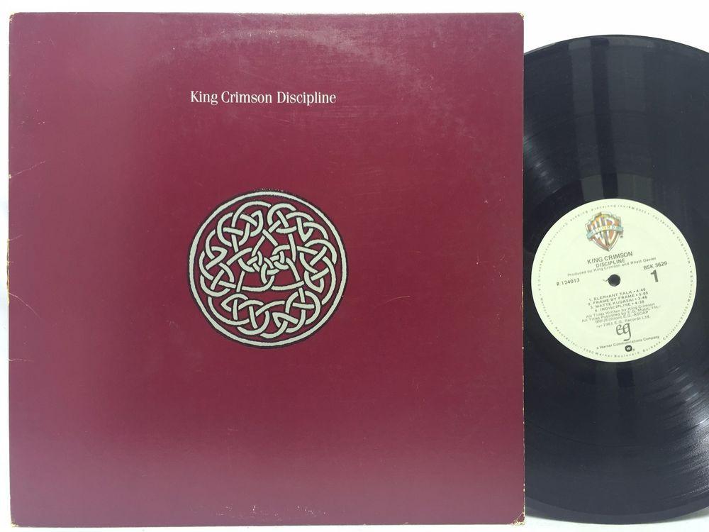 King Crimson Discipline Original Lp Warner Bros Bsk 3629 Lp Vinyl Record King Crimson Vinyl Records Lp Vinyl