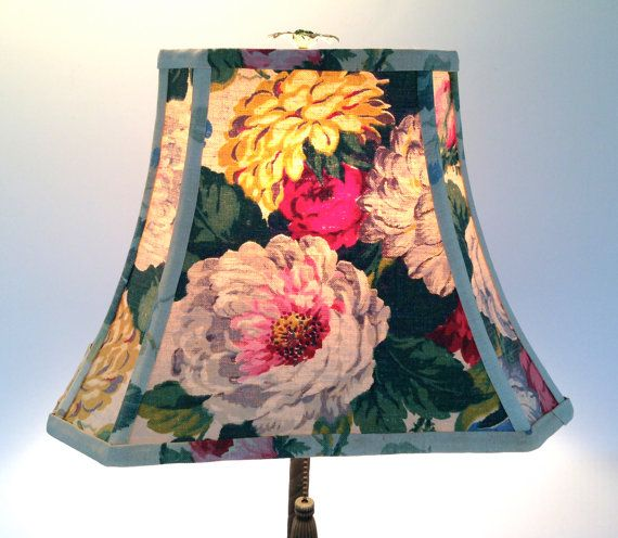 Cabbage Roses Lamp Shade Lampshade in Vintage by lampshadelady