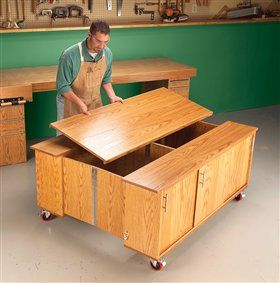 Photo of AW Extra – Torsion-Box Workbench and Expandable Assembly Table | Popular Woodworking Magazine