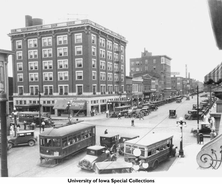 Downtown Iowa City Iowa Early 1920s Iowa City Town And Campus