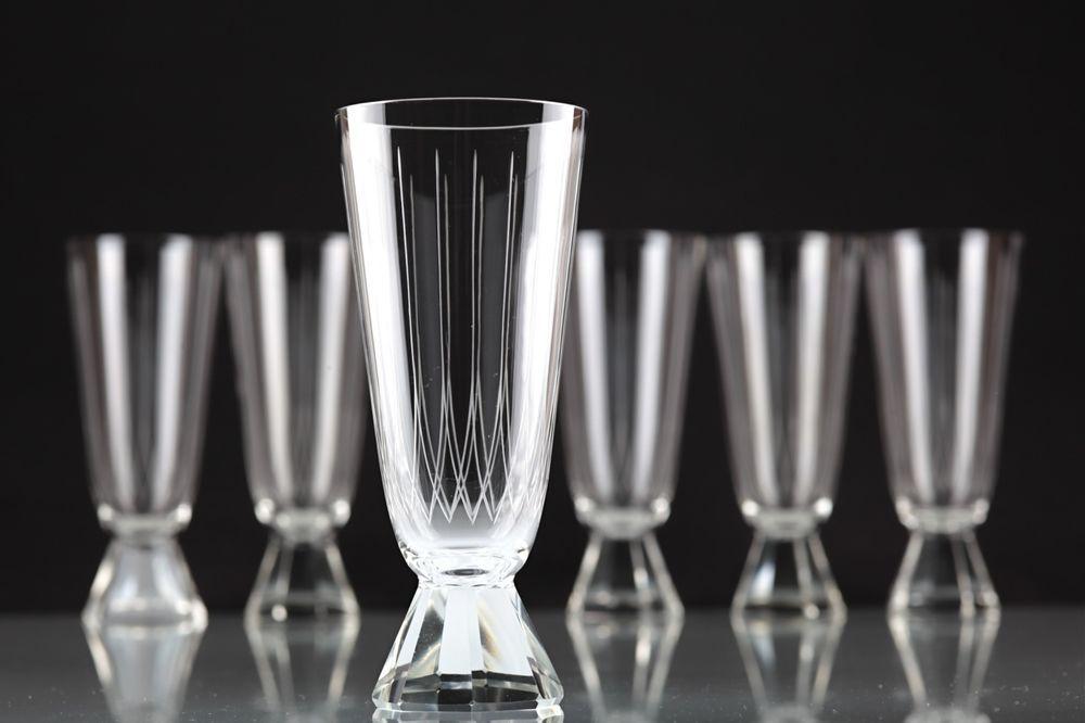 6 Vintage Sektgläser Friedrich Glas Windsor Casino Sektglas 50er Jahre R2U