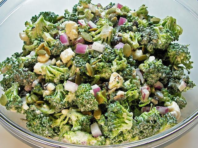 Broccoli salad.  I  make a version of this without the mustard but instead use the juice of a lemon and 2 TB honey.  I also often leave out the mayo and  up the use of really good greek yogurt.