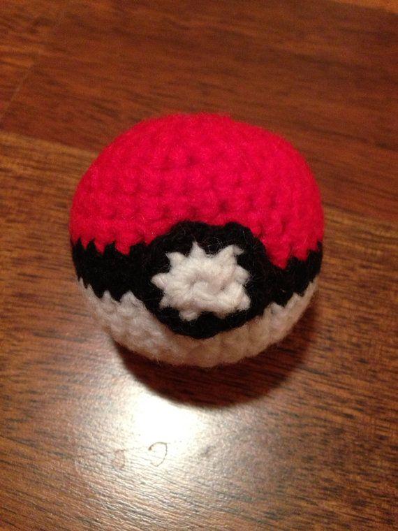 Amigurumi Pokemon Ball : Crochet amigurumi pokemon ball by HaleyBeesStuff on Etsy ...