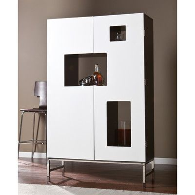 Wildon Home Halden Bar Cabinet With Wine Storage